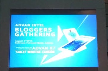 Advan Blogger Gathering - Pre Launching ADVAN Vandroid X7