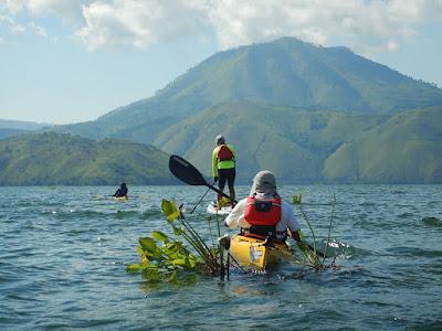 Mount Pusuk Buhit beside lake Toba