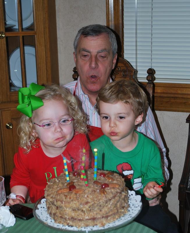 Reese, Charlie & Mia: Happy Birthday PawPaw