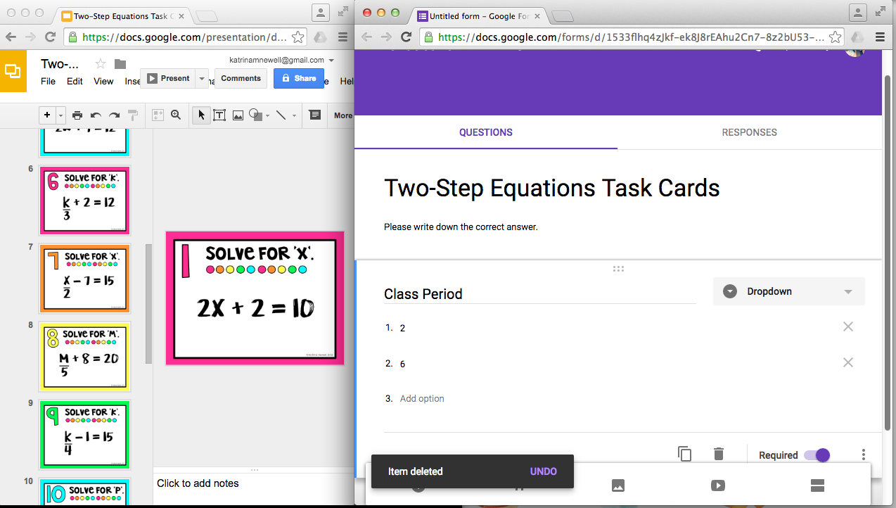 How to Grade with Google Forms | Mrs. Newell's Math
