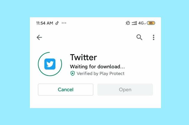 حل مشكلة جاري التنزيل في متجر جوجل بلاي | waiting for download Google Play