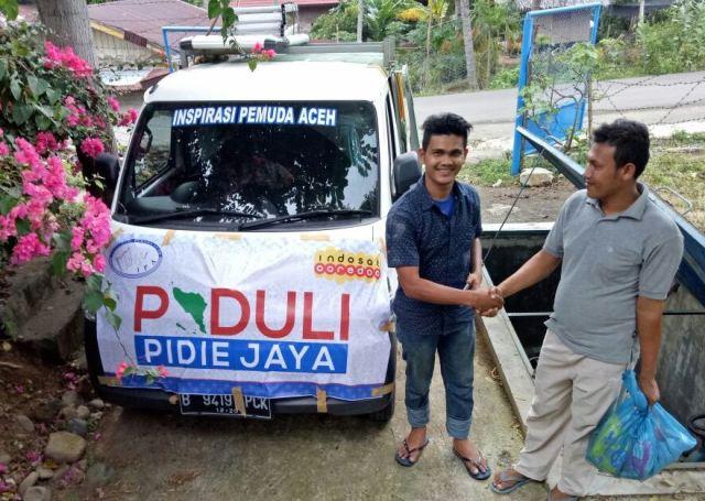 LSM IPA Bekerja Sama dengan Indosat Ooredoo Salurkan Bantuan Gempa Pidie Jaya