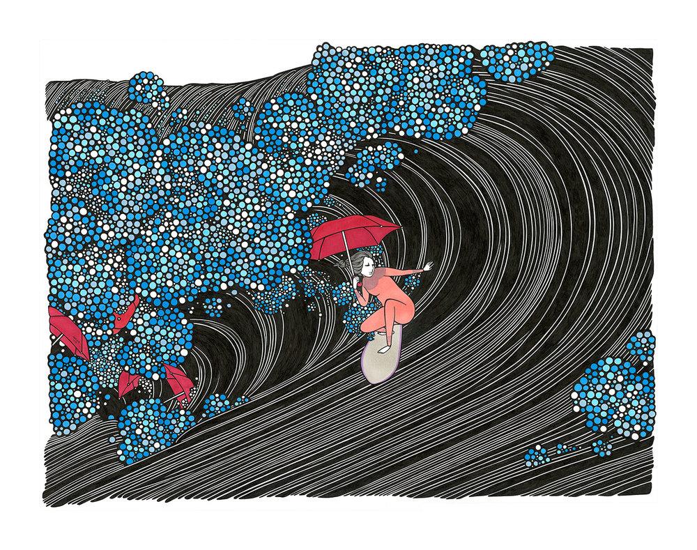El surf art de Kris Goto