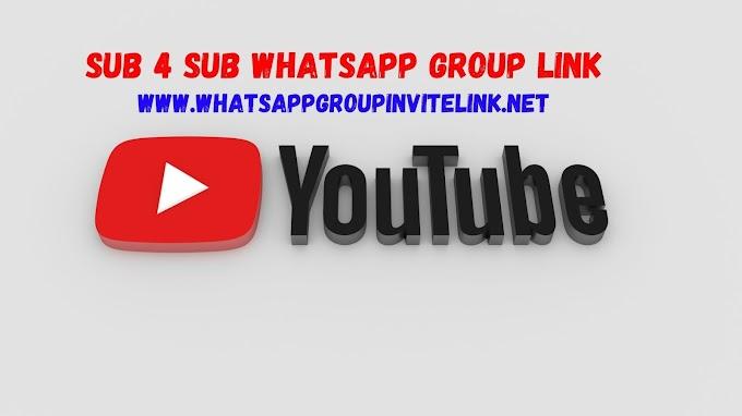 Sub 4 Sub Whatsapp Group Link