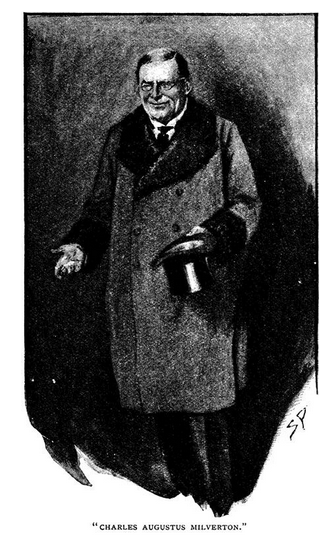 Charles Augustus Milverton as drawn by Sidney Paget