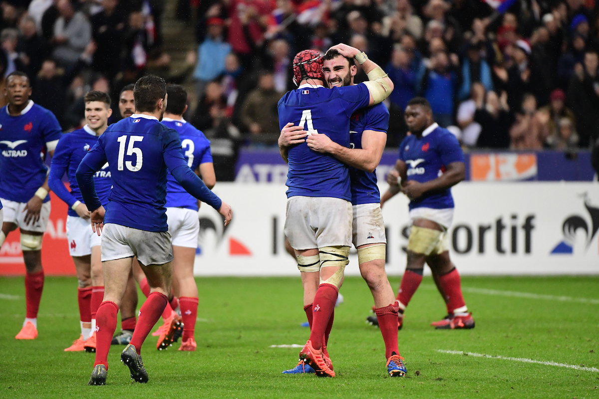 France celebrate a victory over England