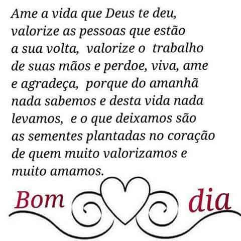 Ame a Vida que Deus Te Deu...