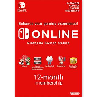 Nintendo Switch 12-month Membership E-Gift card