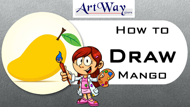 How To Draw Mango Sketching Lesson For Kids Beginners Art Learners