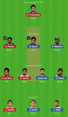 SL vs PAK Dream11 team