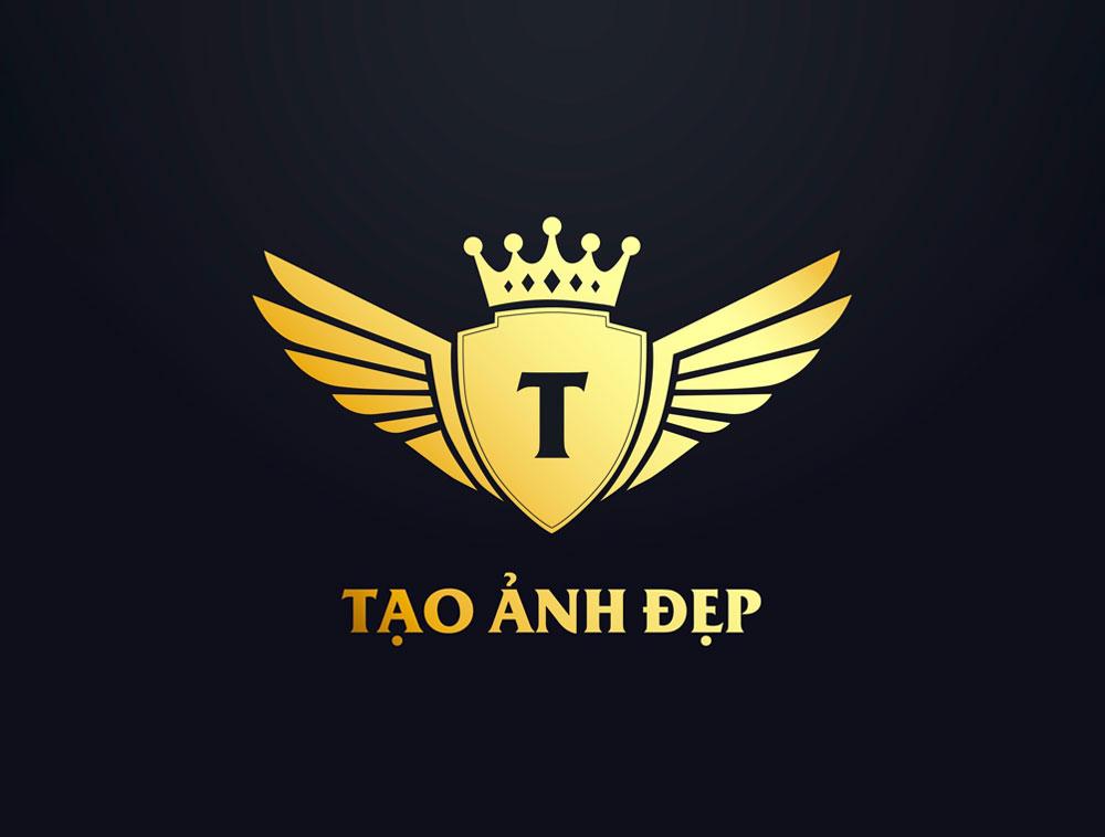 Tạo logo khiên có cánh theo phong cách luxury