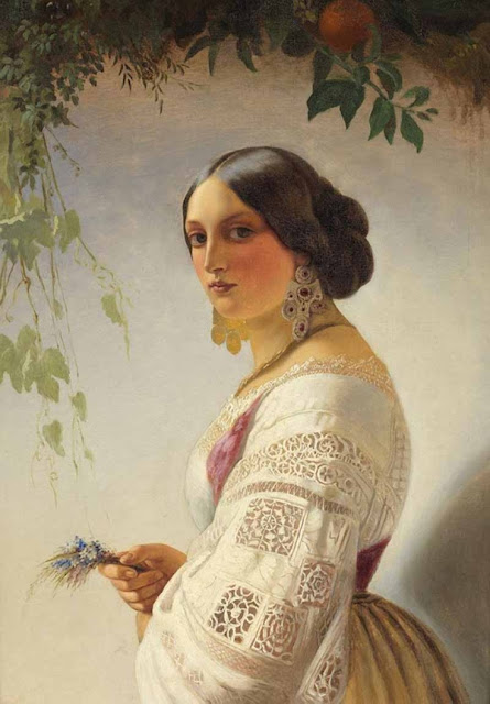 Нефф Тимофей Андреевич (1804-1876) Юная девушка www.womanpaint.blogspot.ru