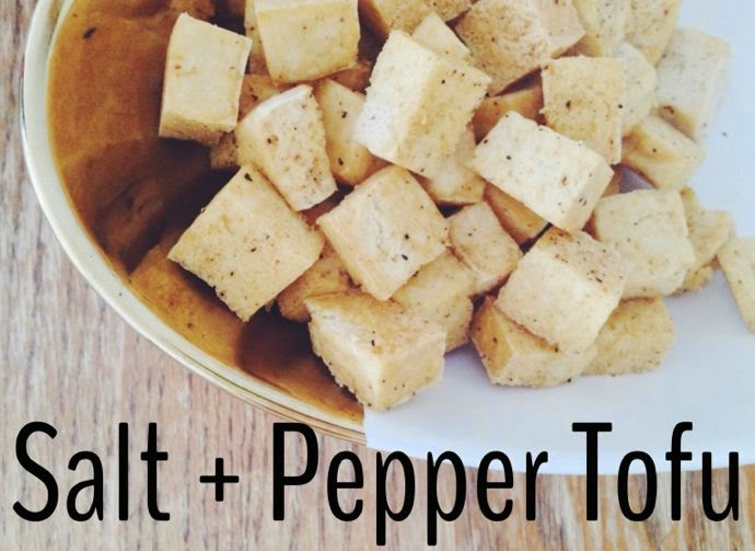 recipe: salt + pepper tofu