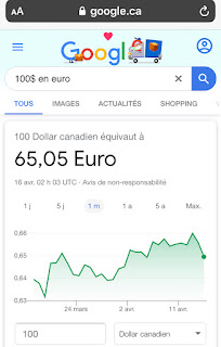 Conversion directe de monnaie sur Google