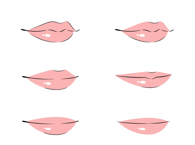 Mewarnai bibir anime 3 4 lihat contoh