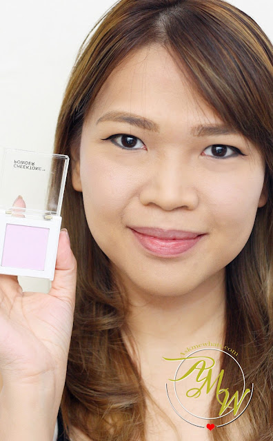 a photo of Nikki Tiu AskMeWhats wearing Tony Moly Cheektone Powder review in shade P01