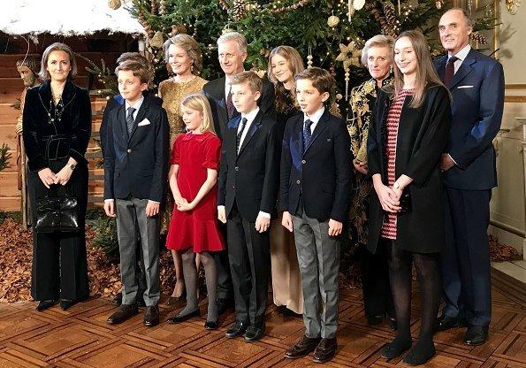 Crown Princess Elisabeth, Princess Eleonore, Prince Emmanuel, Prince Gabriel, Princess Astrid, Prince Lorenz, Princess Laetitia Maria, Princess Claire, Prince Aymeric and Prince Nicolas