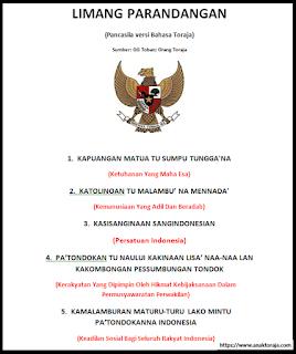 Pancasila dalam Bahasa Toraja