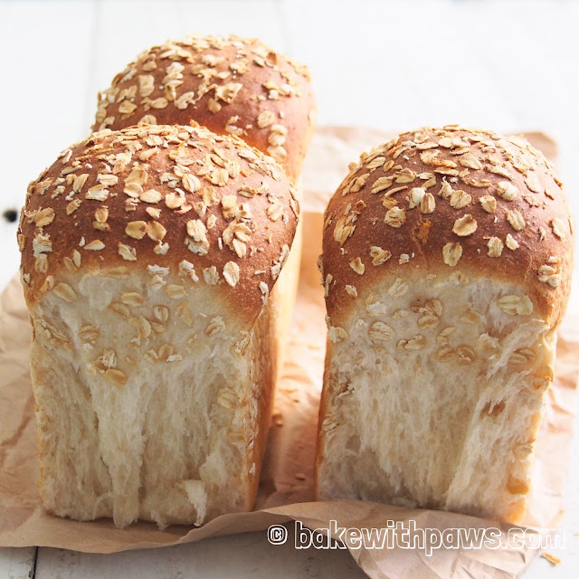 Oat Porridge Soft Sourdough Bread