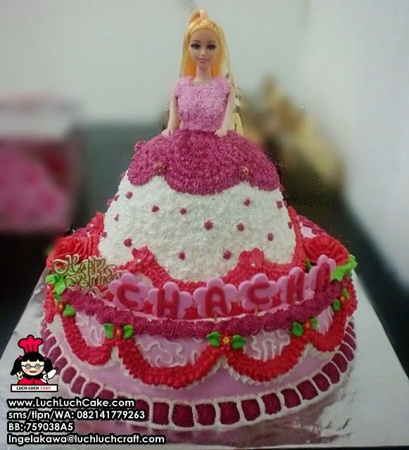 Luch Luch Cake Kue Tart Ulang Tahun Princess Barbie