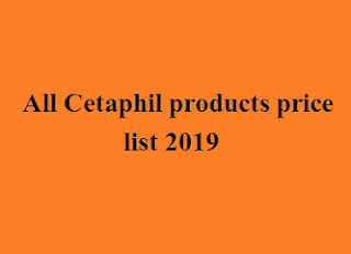 Cetaphil products price list