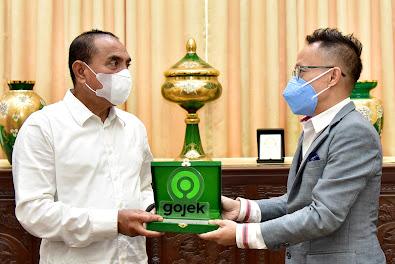 Kembangkan UMKM di Sumut Gubernur Teken Kesepakatan Bersama Gojek