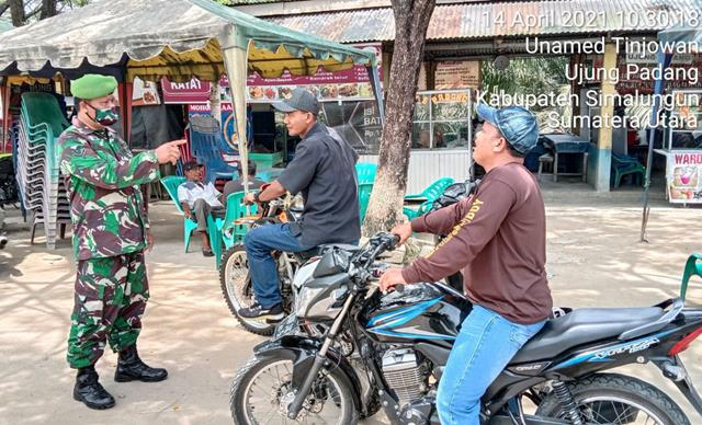 Cegah Penyebaran Covid-19, Personel Jajaran Kodim 0207/Simalungun Tegur Langsung Warga Binaan
