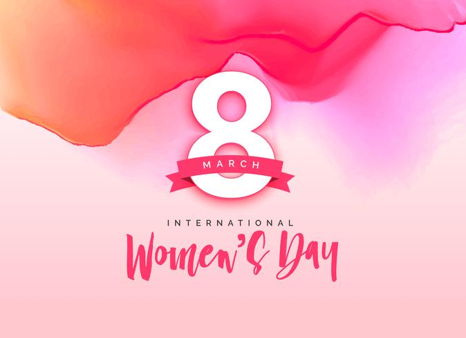 8 march Beautiful International Women's Day Greeting Background free vector