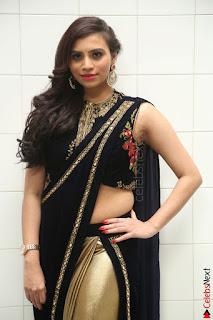 Priyanka Ramana in Beautiful Designer Black Saree At We Craft Elegance Expo Launch 023.JPG