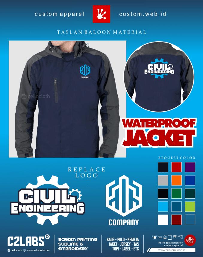 Company Civil Engineering Jacket - Jaket Tehnik Sipil - Konveksi Jaket Jogja
