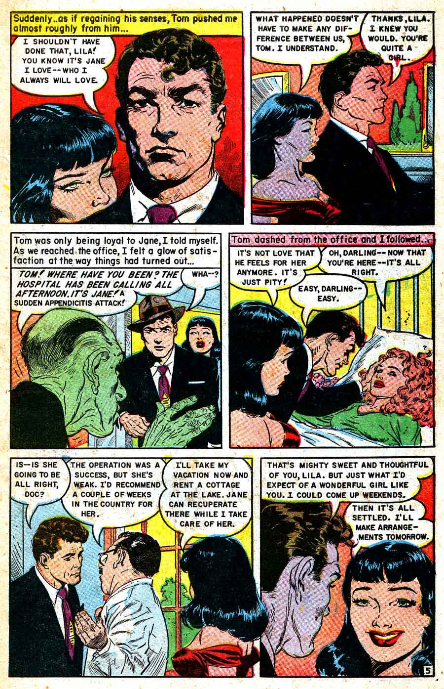Personal Love v1 #25 golden age romance comic book page art by Frank Frazetta