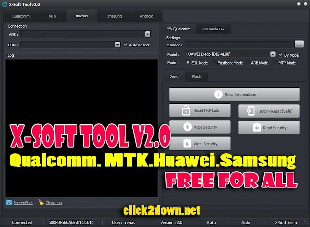 X-Soft Tool v2.0 For MTK, HUawei, Samsung, Qualcomm Unlock, Frp, Factory Reset [Free Download]