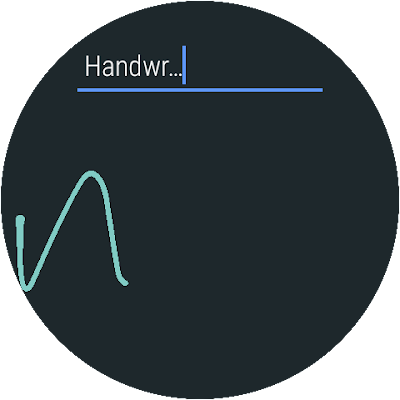 Google Handwriting Input interface