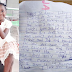 "6-year-old girl pens emotional note for her father on her birthday ""God will give you a good job and plenty money"""
