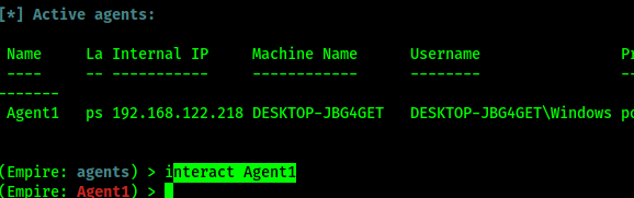 intarect with agent