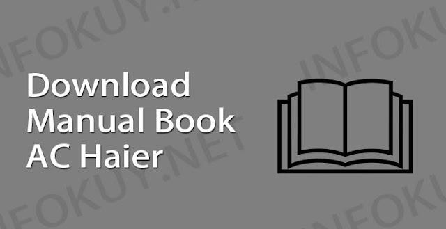 download manual book ac haier