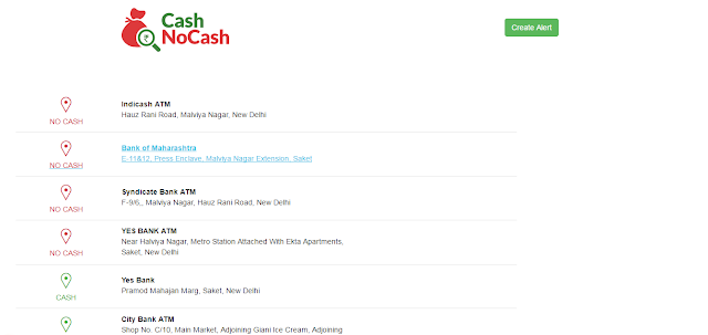 cashnocash atm list result near your location