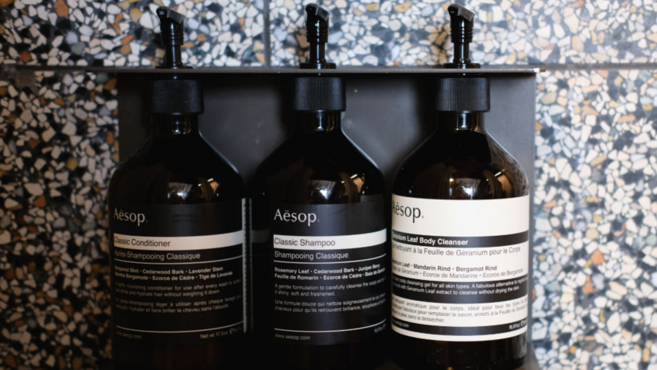 Aesop bath toiletries
