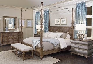Romantic canopy bed at Baer's Furniture