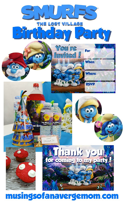 smurfs the lost village birthday party ideas