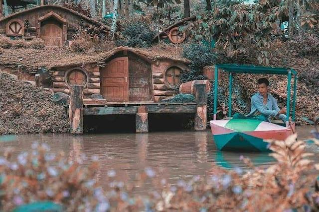 wahana bermain air di wisata banyu mili wonosalam jombang