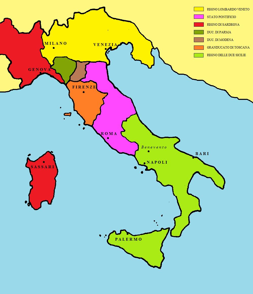 Cartina Dell Italia Nel 1815.Finanza E Politica L Interesse Nazionale Italiano