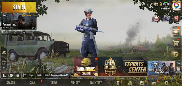 register in PUBG Mobile season 7 crew challenge