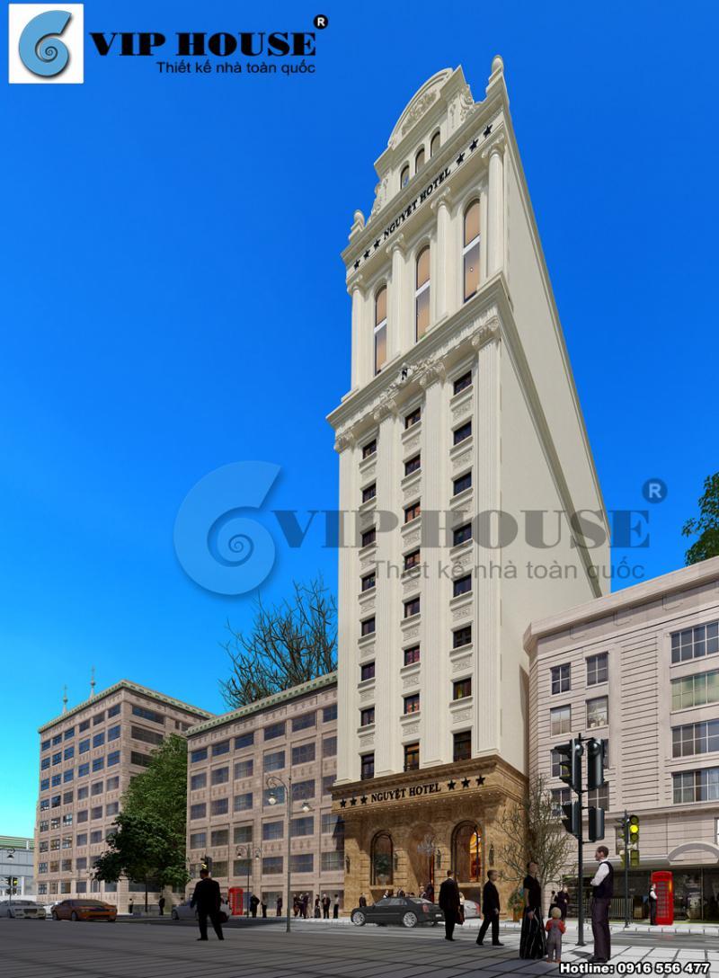Hình ảnh: Kết cấu mở tạo ra không gian thoáng và thoải mái cho các căn buồng nghỉ của thiết kế khách sạn 3 sao.