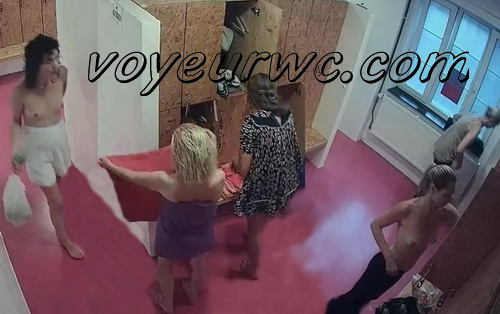 Changing room spy cam shoots women that came to the gym (Lockerroom 1855-1874)