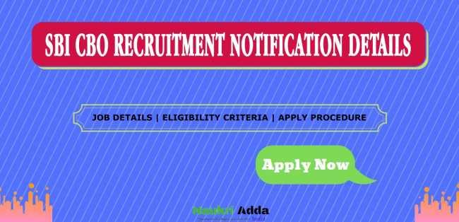 SBI CBO Recruitment 2020 Notification