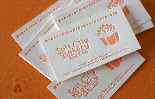 In nhanh card visit rẻ đẹp, thiết kế sang trọng chuyên nghiệp Salt City Bakery