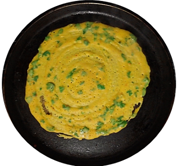 For the month of Shravan a simple quick recipe of the poodlas of Chestnut flour and maize Flour. Very easy to prepare