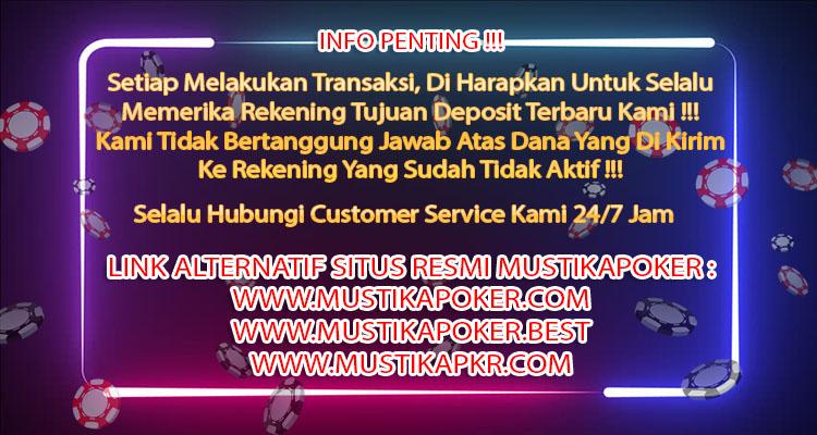SITUS POKER ONLINE TERBAIK DI INDONESIA   MUSTIKAPOKER