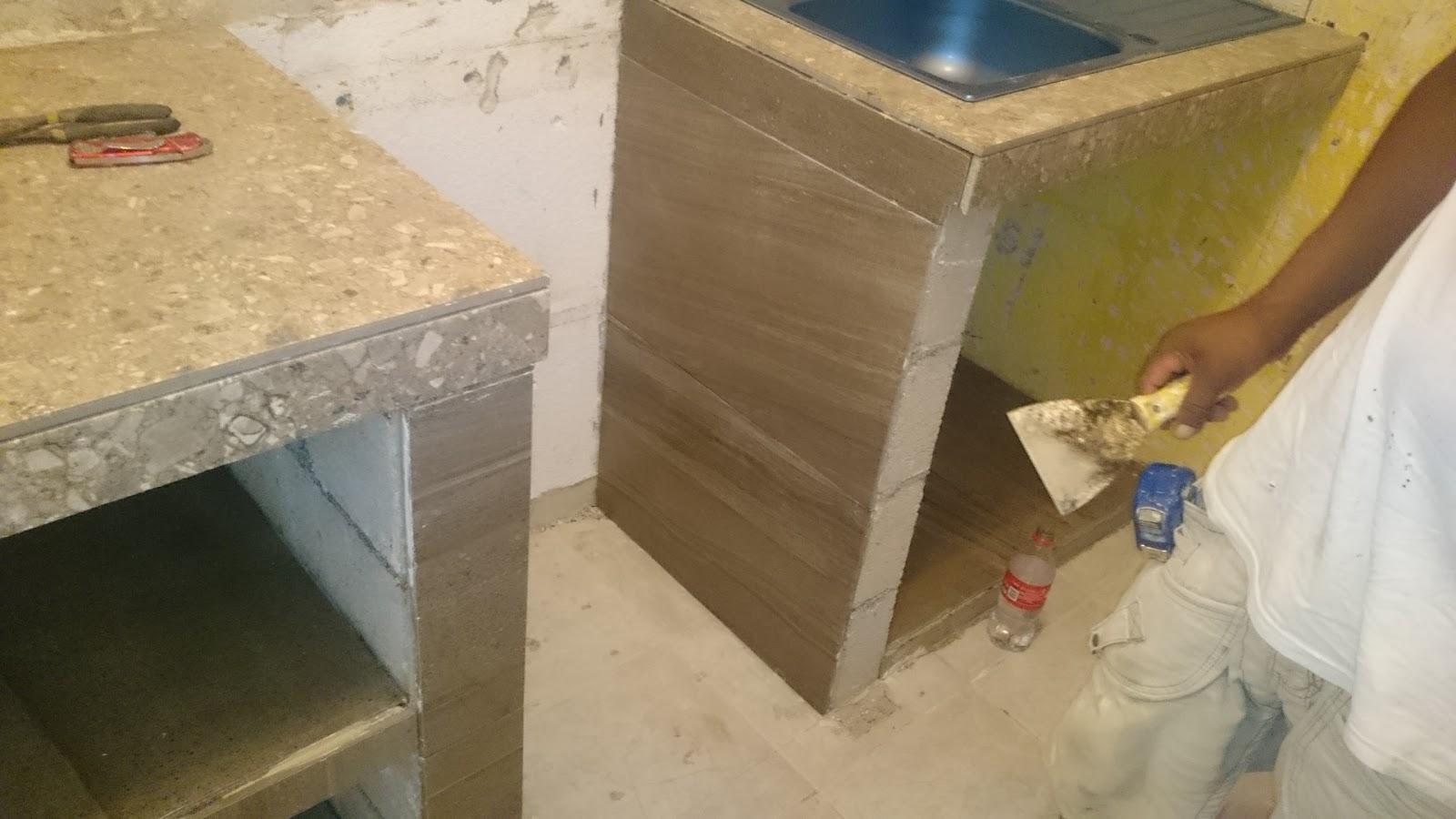 Mr repara remodelaci n de cocina mision de las flores for Desayunadores de concreto
